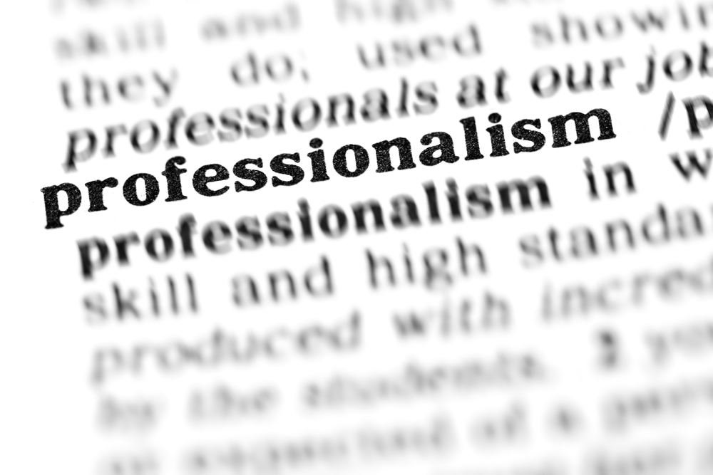 Professionalism picture from dictionary